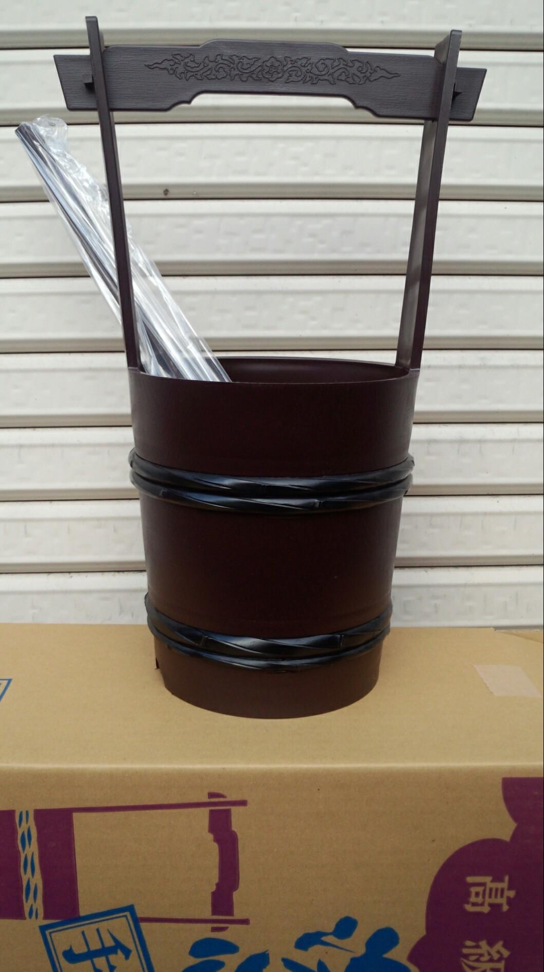 タメ塗り手桶