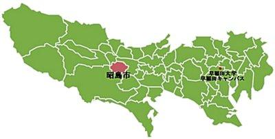 昭島市の位置