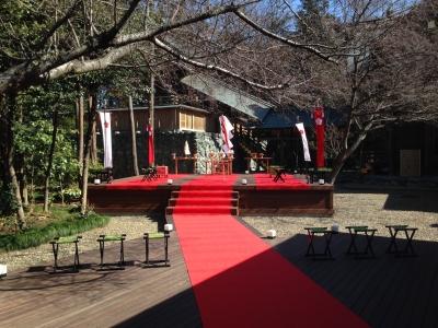 櫻木神社 神苑挙式