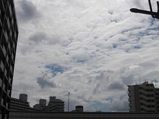 土曜日の雲