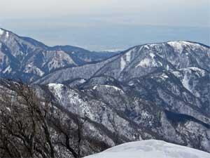 塔ノ岳山頂から江ノ島方面