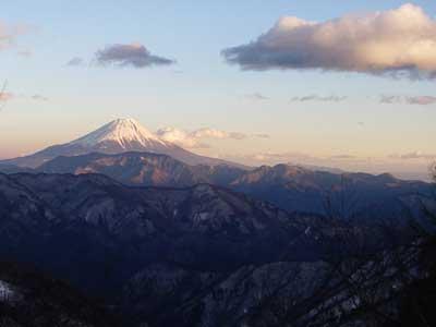 伝付峠からの富士山夕景