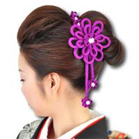 ハレの日髪飾り 重ね梅クリップ