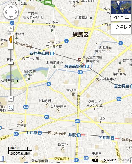 グーグルマップの渋滞情報2