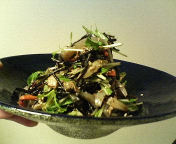 ひじきと水菜