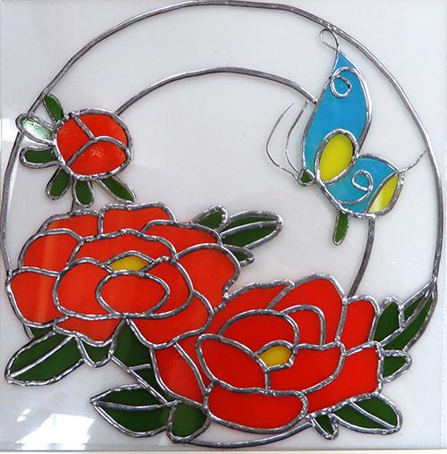 牡丹と蝶01