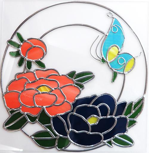 牡丹と蝶02