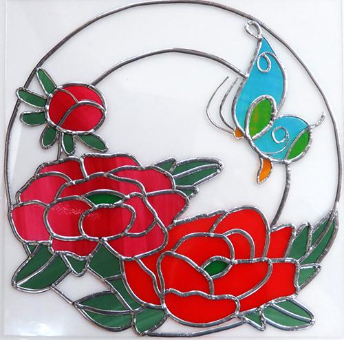 牡丹と蝶04