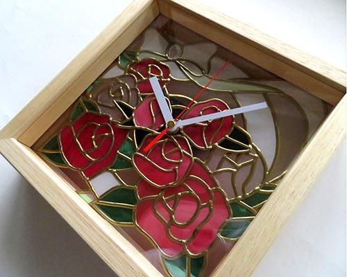 バラの時計