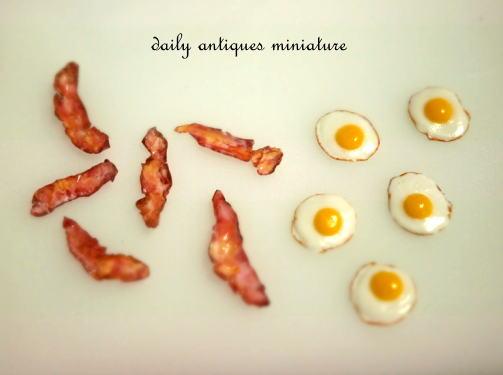 ミニチュアベーコン卵