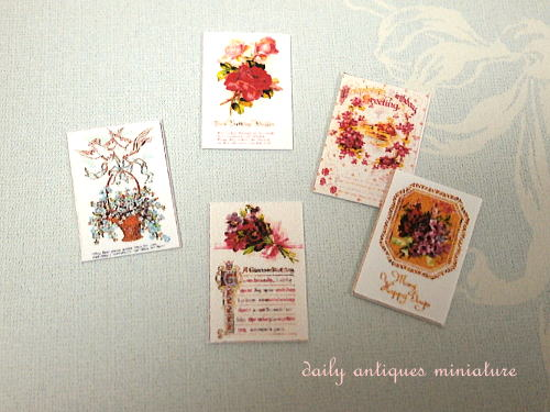 ミニチュアポストカード