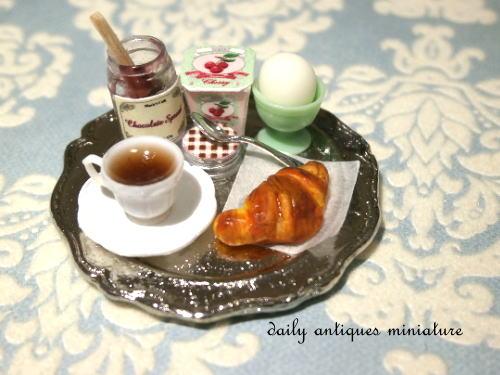 ミニチュア朝食セット