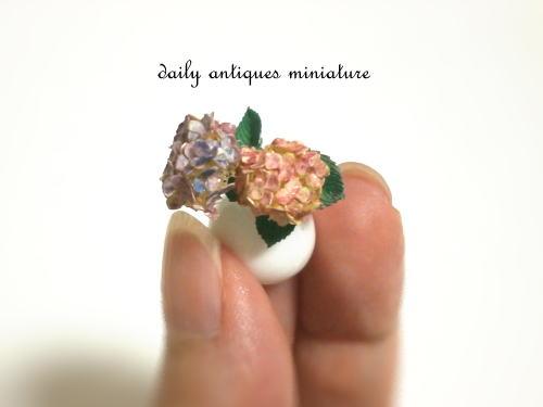 ミニチュア紫陽花