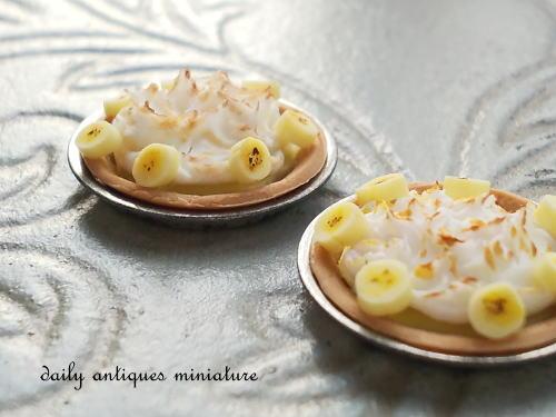 バナナカスタードメレンゲパイ