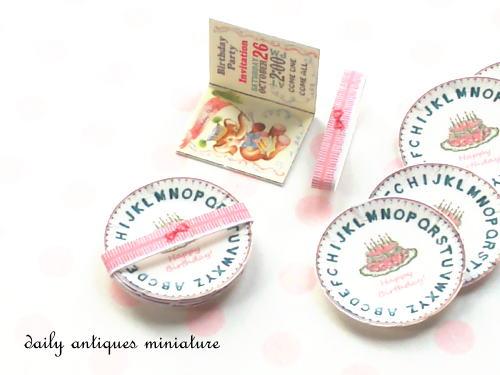 ミニチュア紙皿