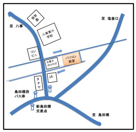 八事教室地図