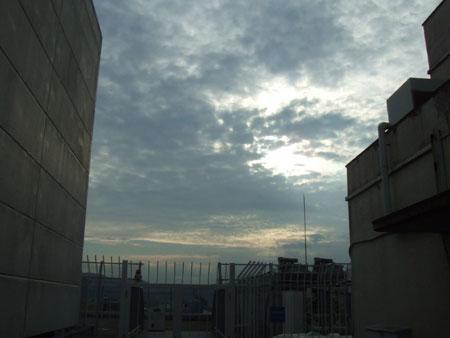 プラッツ近鉄屋上の夕焼け