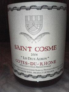 コート・デュ・ローヌ・レ・ドゥ・アルビオン[2004]サン・コム