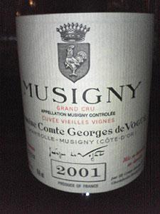 ミュジニー・V.V.[2001]コント・ジョルジュ・ド・ヴォギュエ