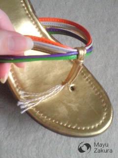 抜けよった足もと金メダル