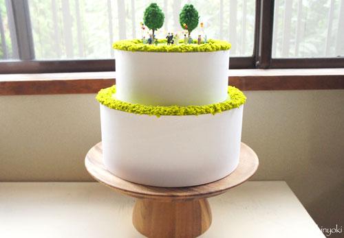 ジオラマウェディングケーキを作る