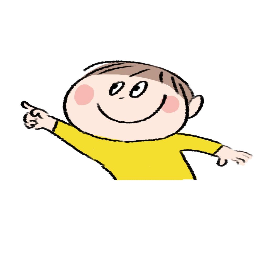 【子供】指をさす男の子