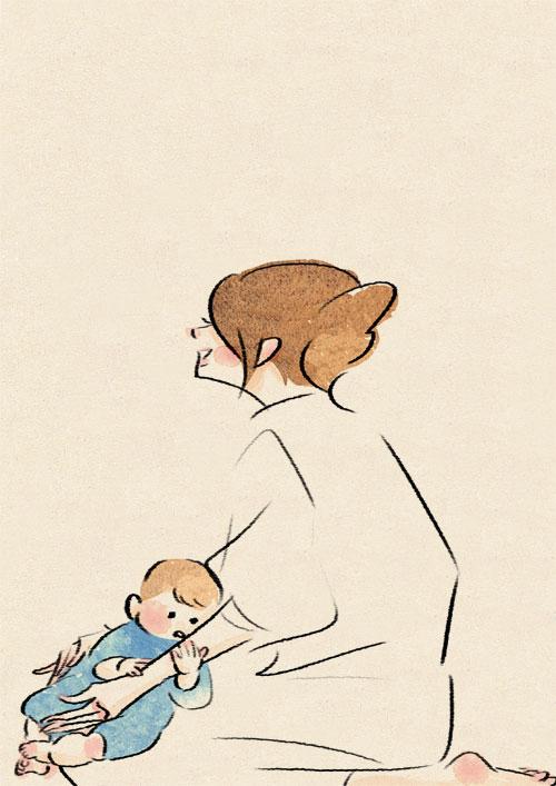 【育児】母と子