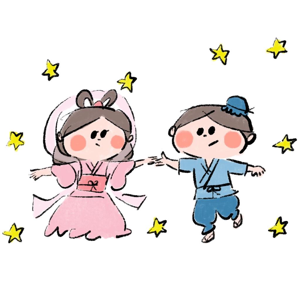 【夏】織姫と彦星