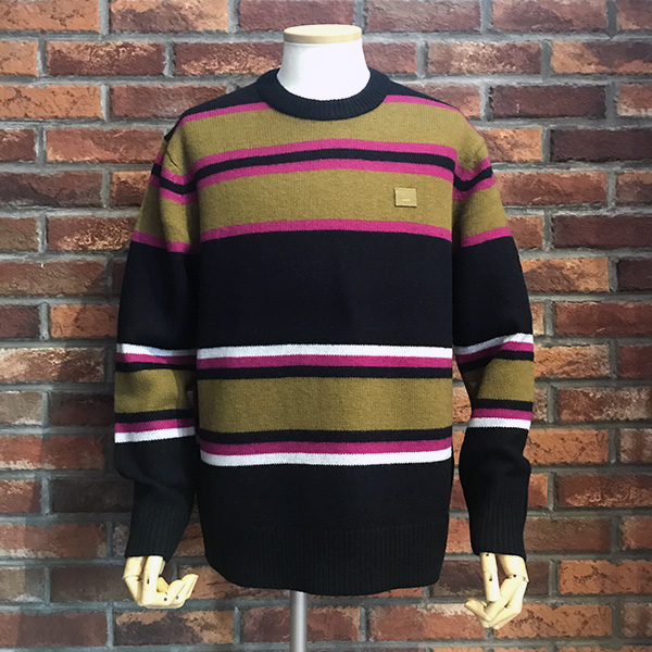 acne studios face border knit black multi.jpg