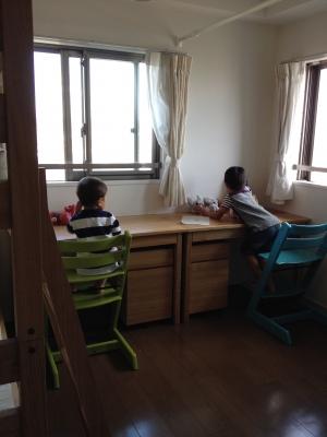 子ども部屋始動!無印の二段ベッドとデスクが届きました! | あたまの