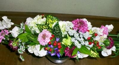 2級水平の花束