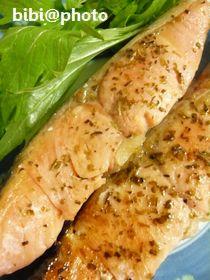 鮭のバジルソテー