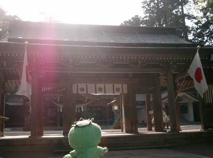 白山比?神社 神門