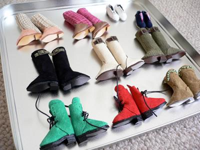 ブライス靴たち。