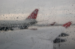 Narita in the rain