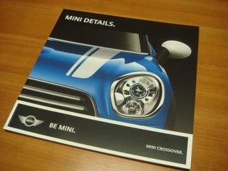 """""""MINI Cooper Crossover S ALL4""""は、ライト・ホワイト・ソリッドのブラックルーフが最有力候補だったが、カタログとwebでロイヤル・グレー・メタリックのホワイトルーフに決定した(笑)"""