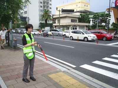 交通整理の様子
