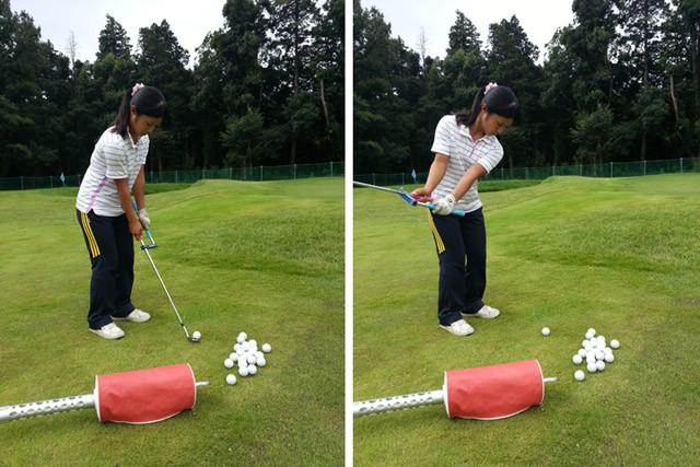 女子プロゴルファー目指して練習