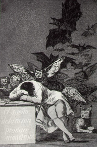 The Sleep of Reason Begets Nightmares (1797-98), Goya