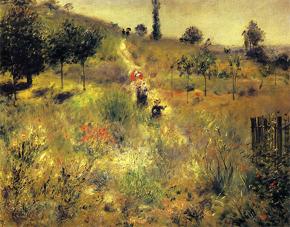 草原の坂道