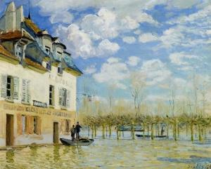 ポール=マルリの洪水と小舟