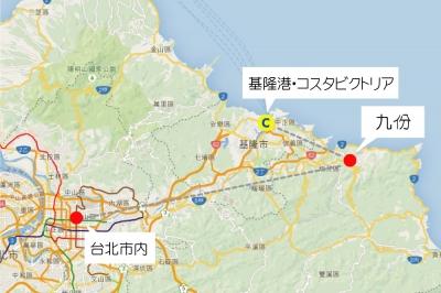 コスタビクトリア台湾地図2