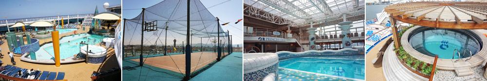 クルーズのプールや施設、設備