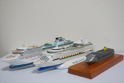 豪華客船の模型