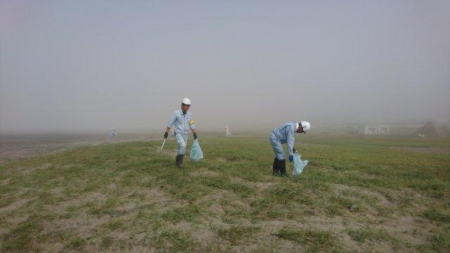 鈴木建設 土木 建築 農業施設 イシンホーム千葉東総 清掃活動 海岸清掃 事業者宣言
