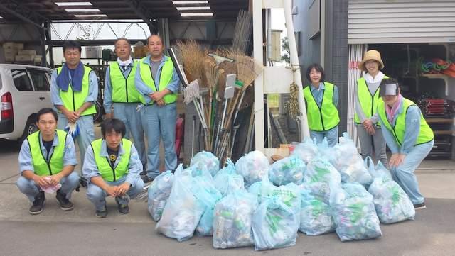 鈴木建設 土木 建築 農業施設 イシンホーム千葉東総 清掃活動 清掃ボランティア ごみ減量化と3R推進のまち 事業者宣言