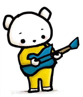 しろくまギター イラストレーター かわいい
