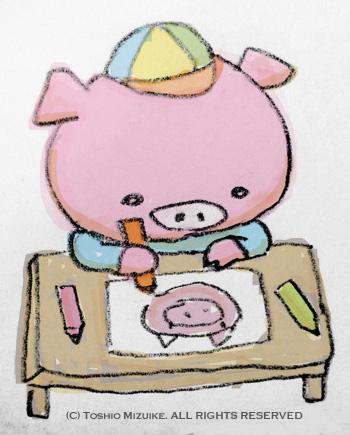 こぶた イラスト 子豚イラスト かわいい