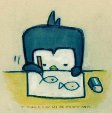ペンギン ぺんぎん キャラクター お絵描き