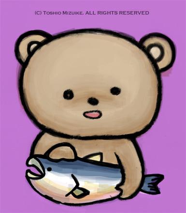 北海道 くま クマ 熊 鮭